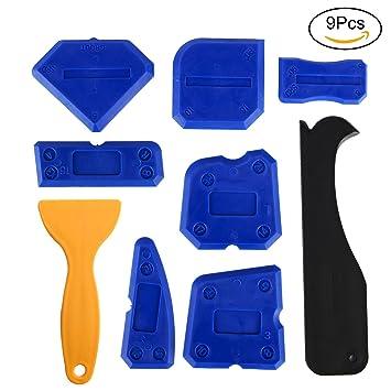 Kabi 9 Stück Silikon Entfernen Und Silikon Schaber Entferner Abdichtung  Abdichten Werkzeuge Kits Für Alle Badezimmer