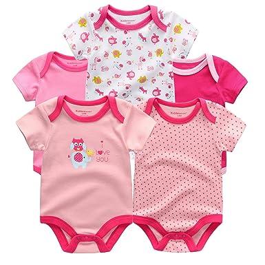 d39584b7c152 Amazon.com  Kiddiezoom 100%Cotton Baby Boys Girls Clothes Short ...