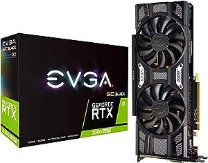 EVGA GeForce RTX 2060 SUPER SC BLACK GAMING, 8GB GDDR6, Dual Fans, 08G-P4-3062-KR