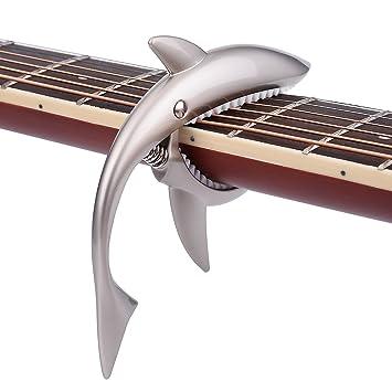 Tornado Cejilla de guitarra eléctrica accesorios gatillo ukelele banjo capo plata: Amazon.es: Oficina y papelería