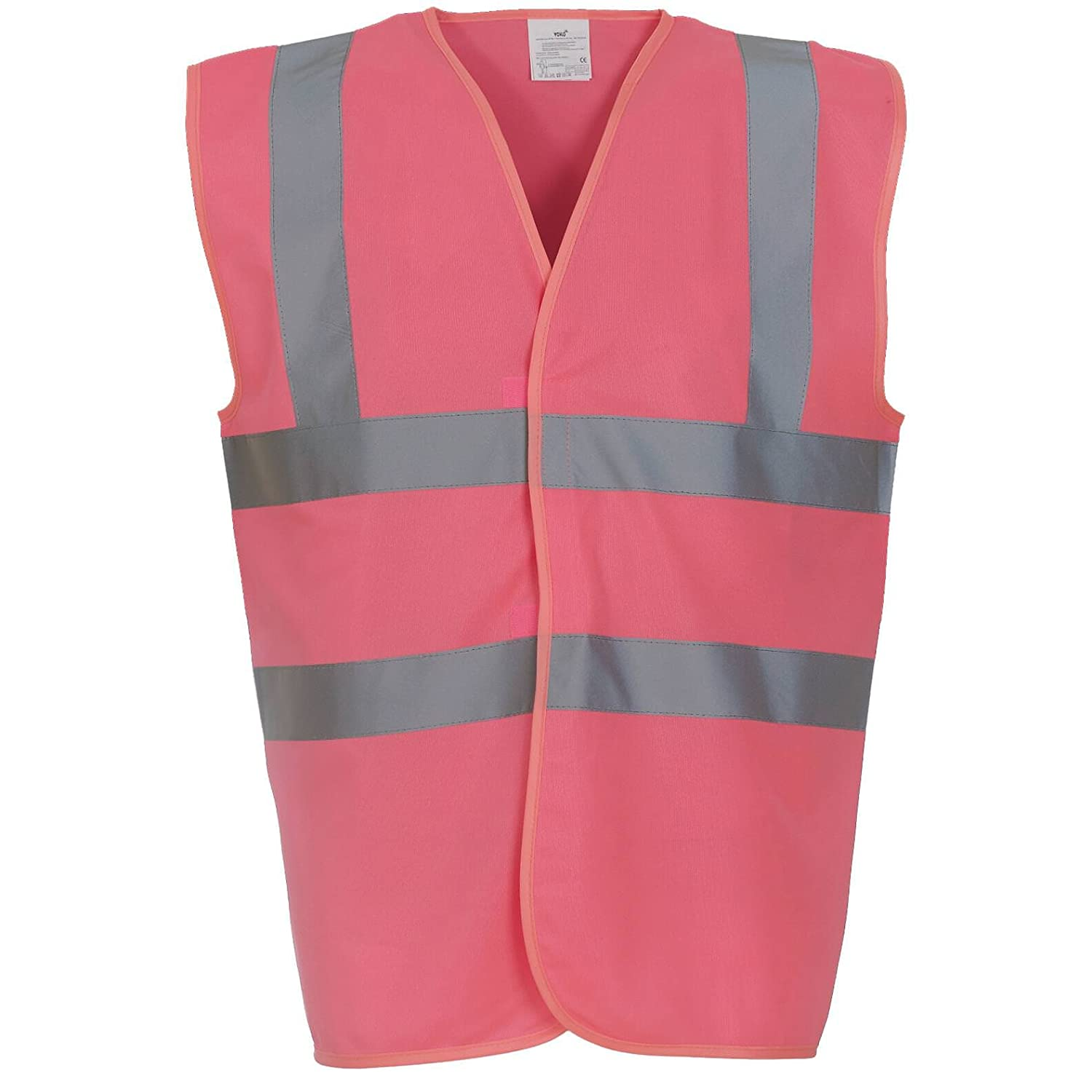 Yoko Hi Vis 2 Band And Braces Waistcoat - 26 Colours / Sml - 5XL - Pink - XL