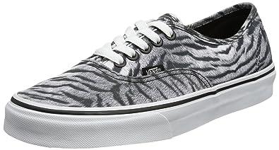 98e4d1b22be551 Vans Authentic (Tiger) Skate Shoes Black  True White US Men s Size 4.5