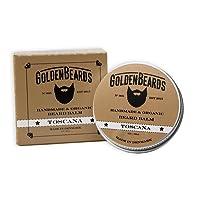 Organic barba balm - Toscana - 60 ml - 100% Naturale * Golden Barba *, Jojoba e olio di Argan e albicocca, Idrata la barba e la barba su pelle, punto, il prodotto ideale da utilizzare, da uomo Kosmetex - 100% Vegan e oli biologici per Real Barba - Stop prurito Barba - Il Miglior Barba di crescita - La migliore Barba Ammorbidente prodotto e la barba perfetta Set Regalo o barba Kit se hai bisogno di un uomo cura della barba questo è il miglior balsamo Barba Set Regalo. Garantito al 100%