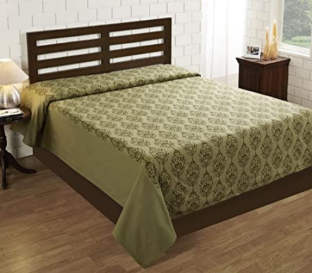 House This 100% Cotton 1 Double Bedcover Tradition Green
