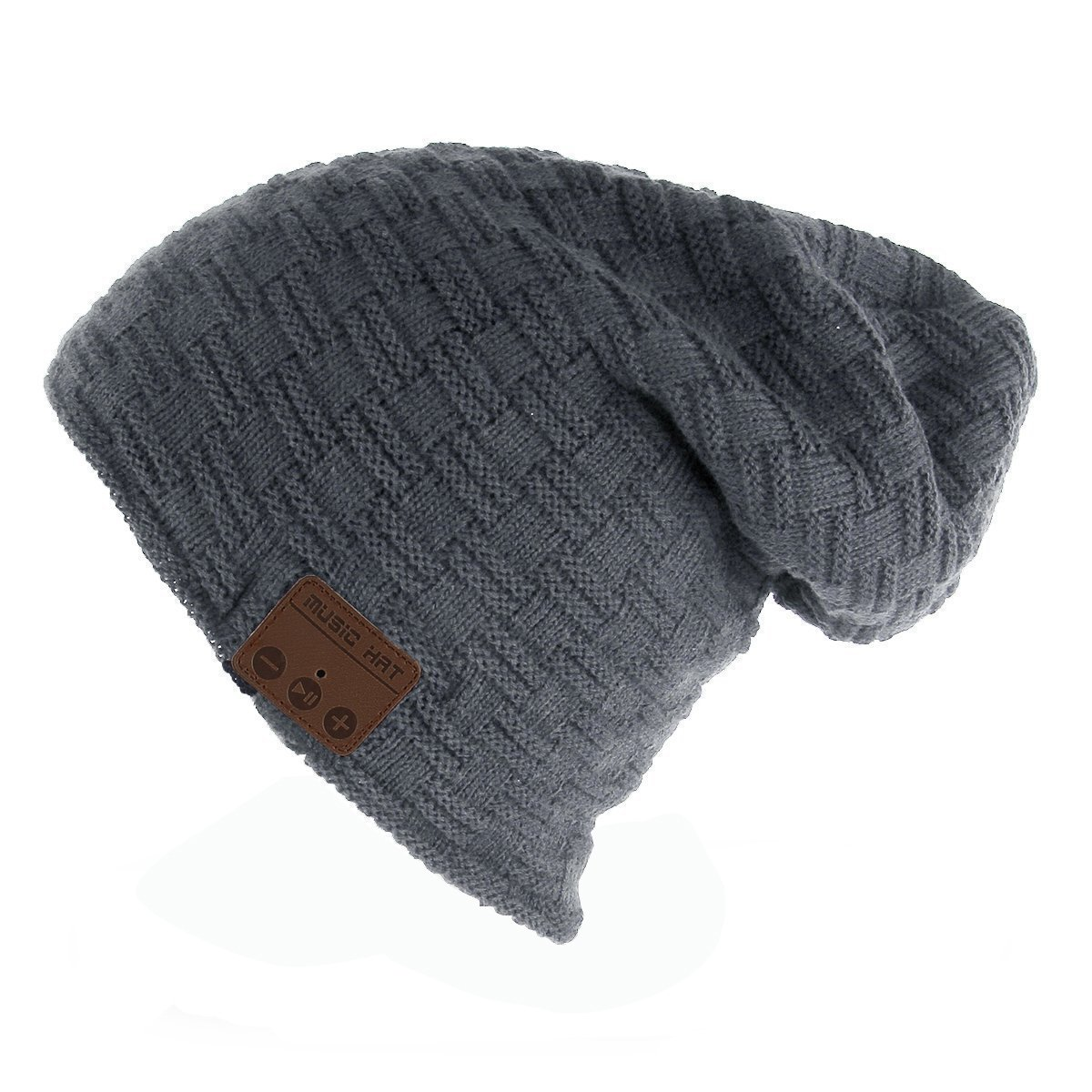 Cappello musicale, cappello auricolare Bluetooth per cuffie ANGTUO Cuffia in maglia calda morbida Ricevere chiamate e musica a ricezione delle mani senza fili