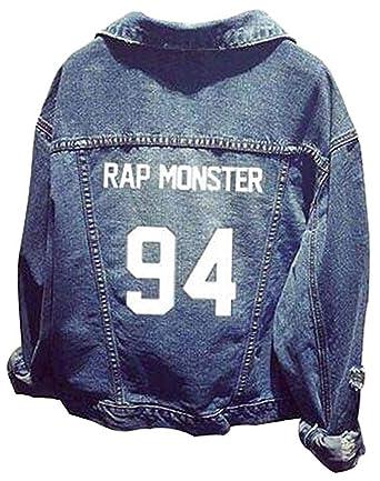 Formesy Unisex BTS Sudadera Ropa BTS Chaqueta de Mezclilla para Army Suga Jin Jimin Jung Kook J-Hope Rap-Monster V: Amazon.es: Ropa y accesorios