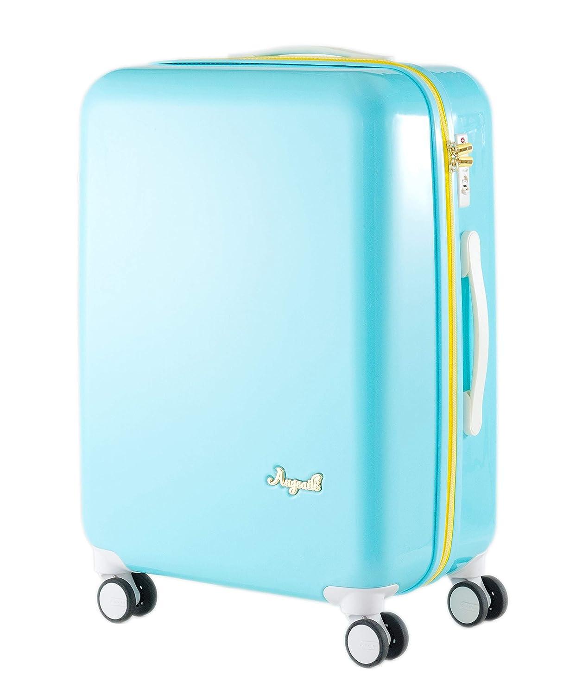[プラスワン] スーツケース キャリーケース アンジェール 容量58L 縦サイズ63cm 3.4kg 型番 930-56  キャンディブルー B07KG3LRB3