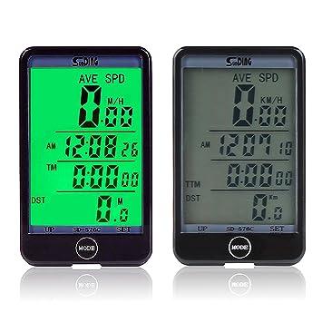 EEEKit Multi Función impermeable bicicleta ciclocomputador para deporte ciclo, bicicleta Velocímetro bicicleta odómetro Touch botón