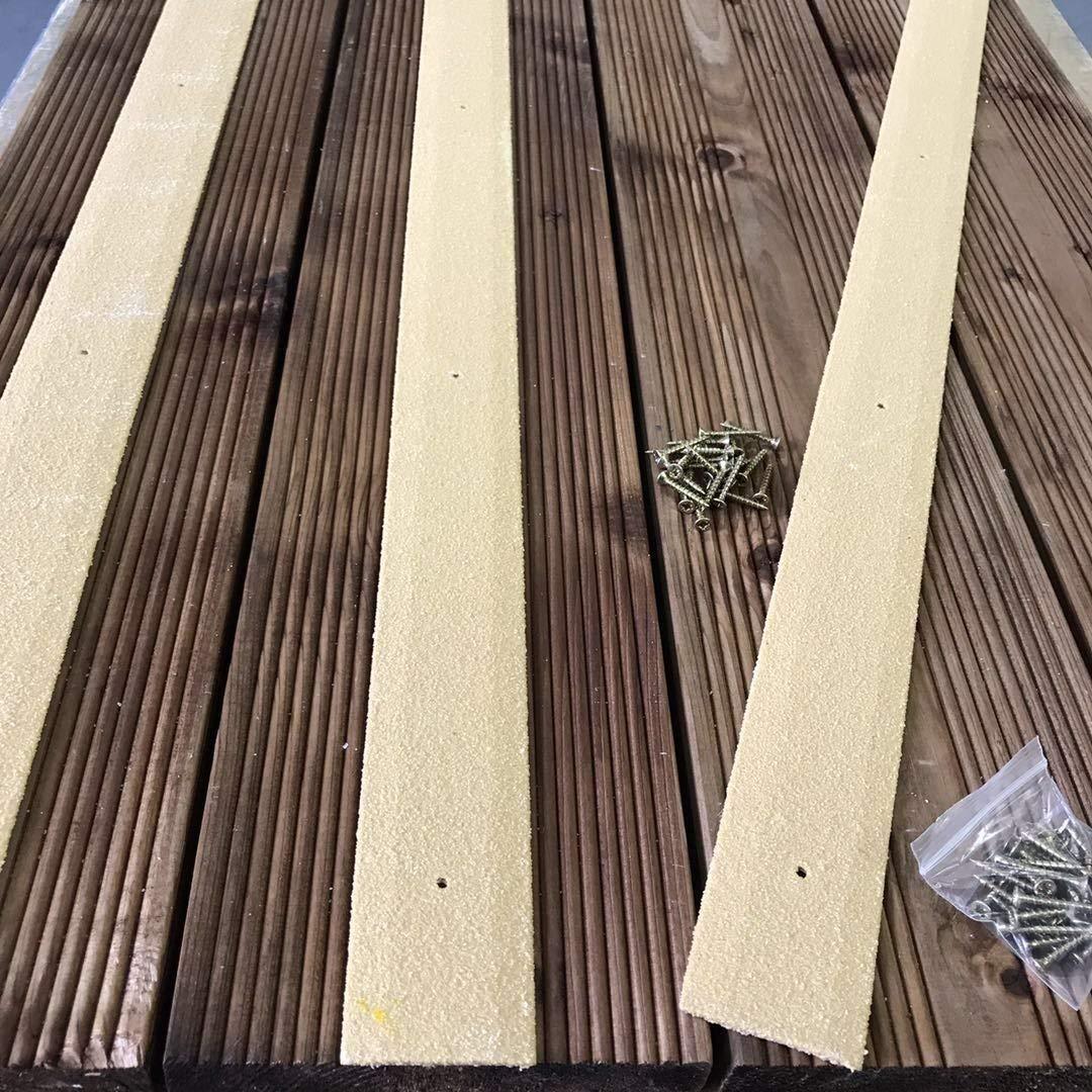 Noir Lot de 10/1000/mm antid/érapante pour terrasse Bandes Bandes de terrasse en bois 50/mm de largeur 50/mm x 1000/mm