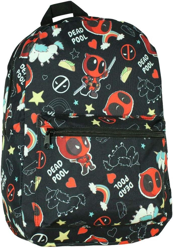Bioworld Marvel Deadpool Unicorns And Rainbows Laptop Backpack