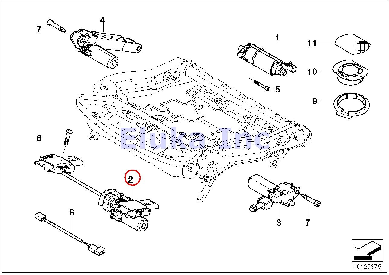 Bmw Genuine Seat Adjustment Motor Thigh Support Wiring Diagram Switch 2008 528i 525i 525xi 530i 530xi 545i 550i M5 528xi 535i 535xi 745i 750i