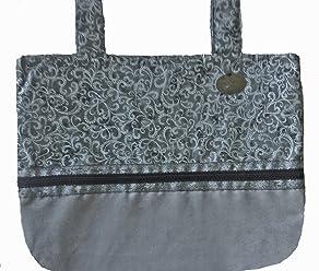 eec4a51a5ce Silver Grandeur - Classic Walker Bag In Silver & Black