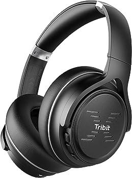 Tribit XFree Go over Ear Bluetooth Headphones with Deep Bass