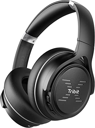 Amazon Com Tribit Xfree Go Bluetooth Headphones Wireless Headphones Over Ear With Bluetooth 5 0 Hifi Sound With Deep Bass Usb Lightening Fast Charge 24h Playtime Cvc8 0 Noise Cancelling Mics Black Electronics