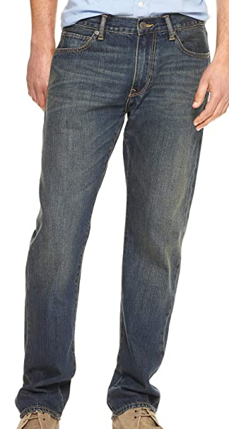 GAP Mens Straight Fit Dark Wash Jeans (32x32) at Amazon ...