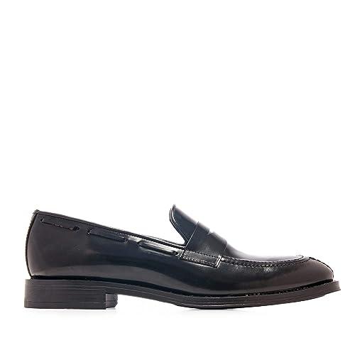 Castellanísimos Mocasines de Piel con Antifaz Hombre Negro: Amazon.es: Zapatos y complementos