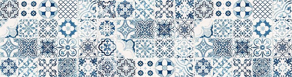 Viniliko tappeto port grimaud vinile blu 66 x 250 x 3 cm - Tappeto vinile cucina ...