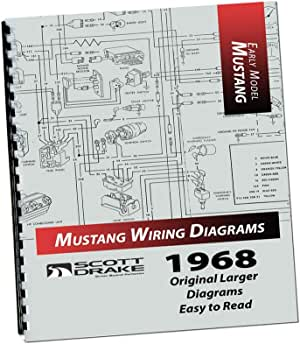 Amazon.com: Mustang Wire Diagram Book Large 1968 - Scott Drake: AutomotiveAmazon.com