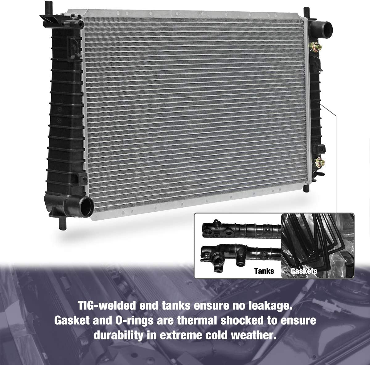 Radiators CU1831 2-Rows Radiator Replacement for ford Expedition F ...