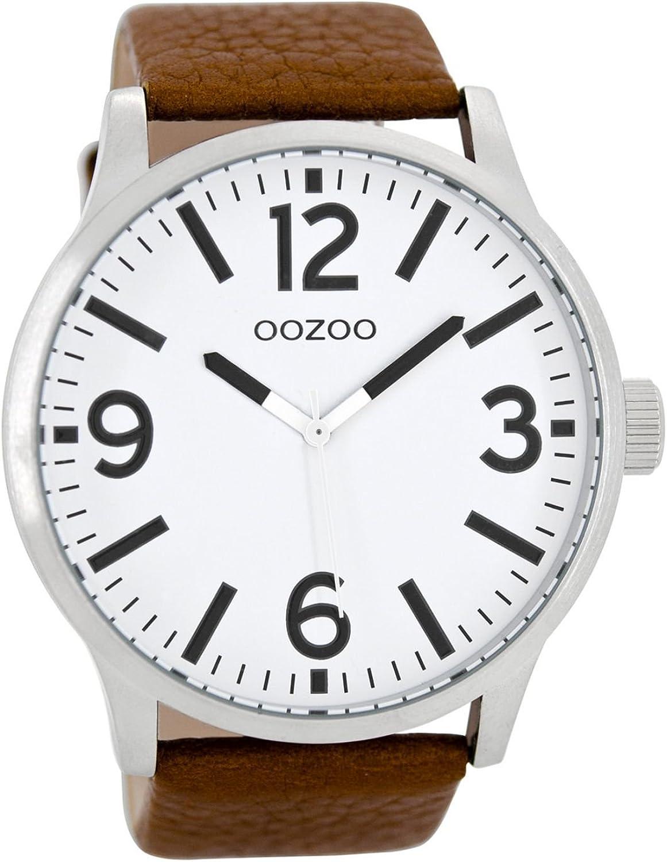 Oozoo Reloj Analógico para Hombre de Cuarzo con Correa en Cuero C8570