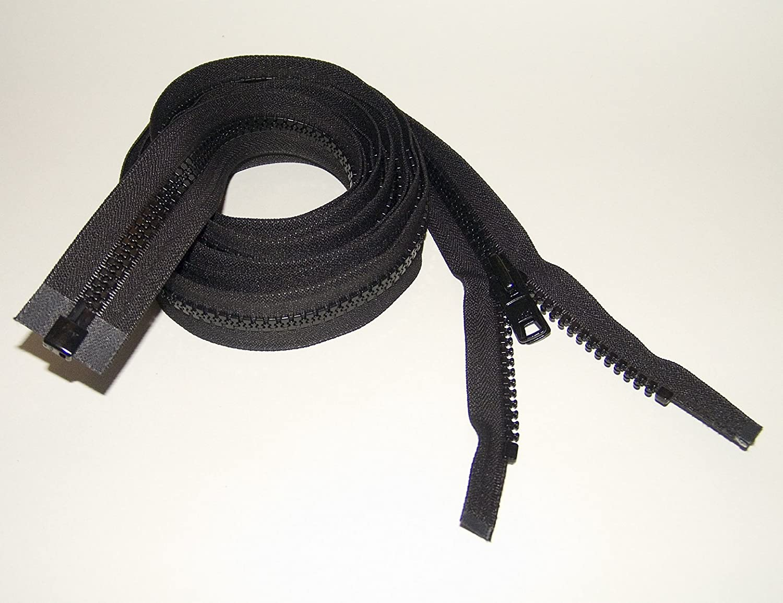 Seperating Zipper Boat Canvas by Northwest Tarp /& Canvas YKK Zipper #10 Double Metal Slider Black 30 Inch