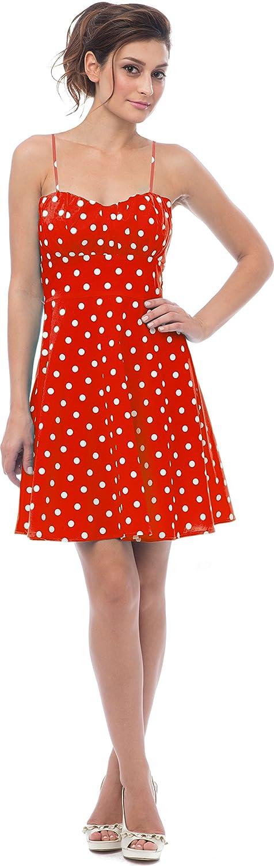 50's Retro Rockabilly Polkadot Dress Sundress at Amazon Women's ...