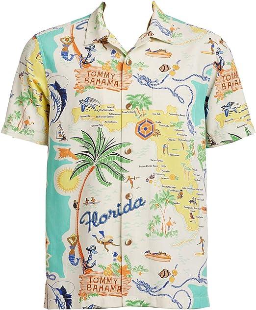 Tommy Bahama Meet Me in Miami - Camisa de Acampada de Seda - - XX-Large: Amazon.es: Ropa y accesorios