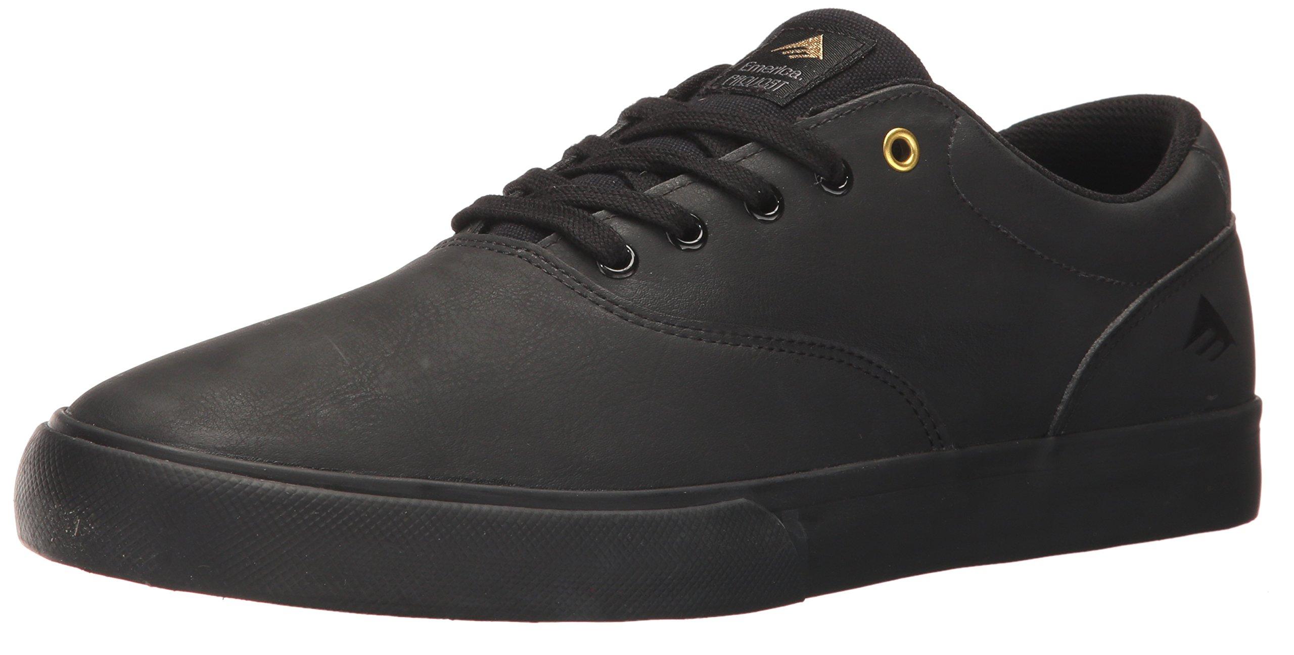 Emerica Provost Slim Vulc Skate Shoe,Black/Gold,13