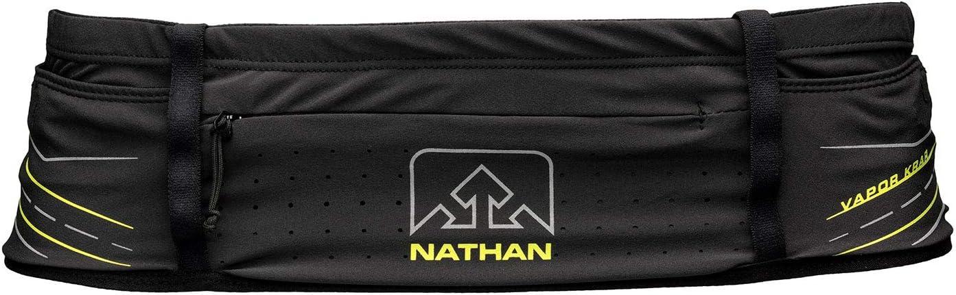 Nathan Running Belt VaporKrar Hydration Waistbelt WaistPak. Includes Soft Flask, Storage, Zipper Pocket. for Running, Hiking Fanny Pack. Bounce Free.
