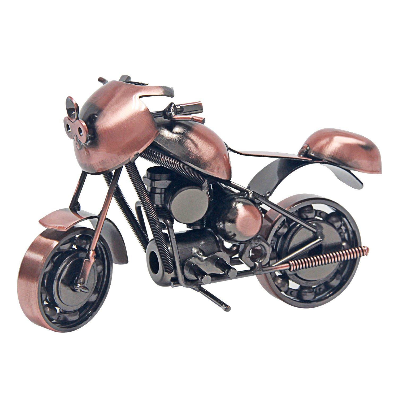 Signstek vintage fabriqué à la main Modèle de moto de fer comme Collectible Art Sculpture pour les amateurs de moto