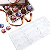 Jeteven Chocolate Mold, Jelly and Candy Mold, Non-Stick Diamond PC Polycarbonate Chocolate Mould-21 Cavities