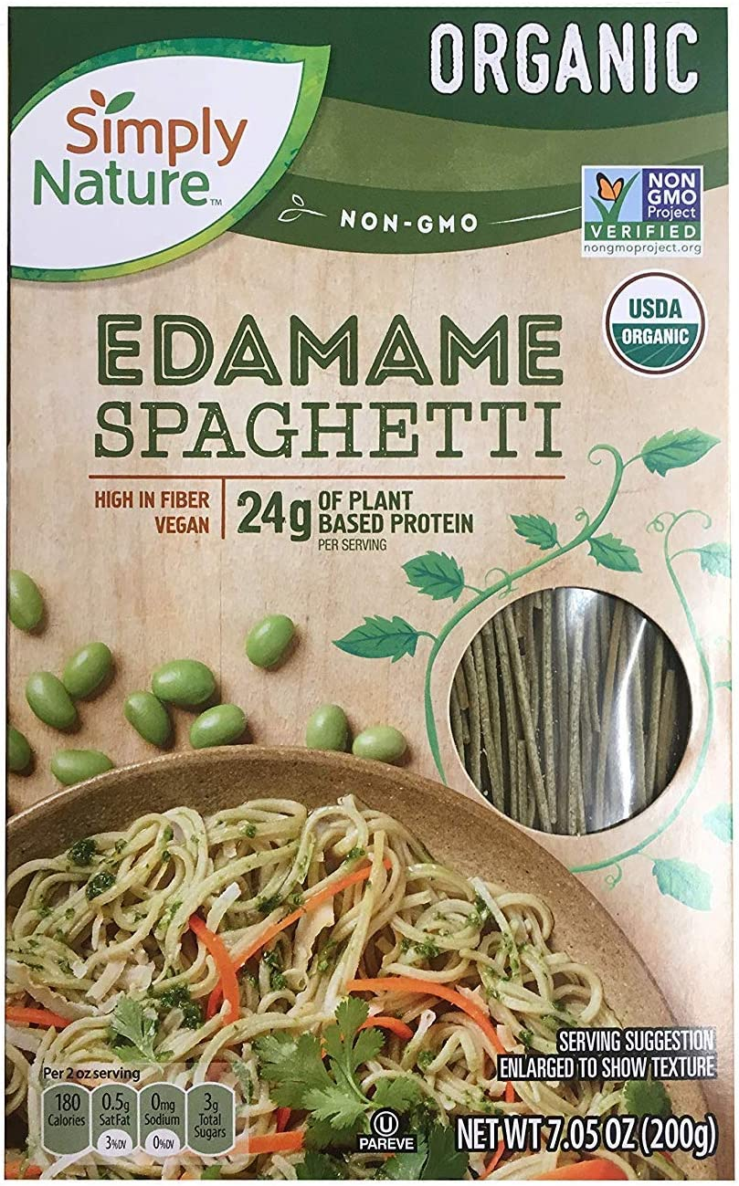 Simply Nature USDA Organic Edamame Gluten Free Vegan Spaghetti - 7.05 oz