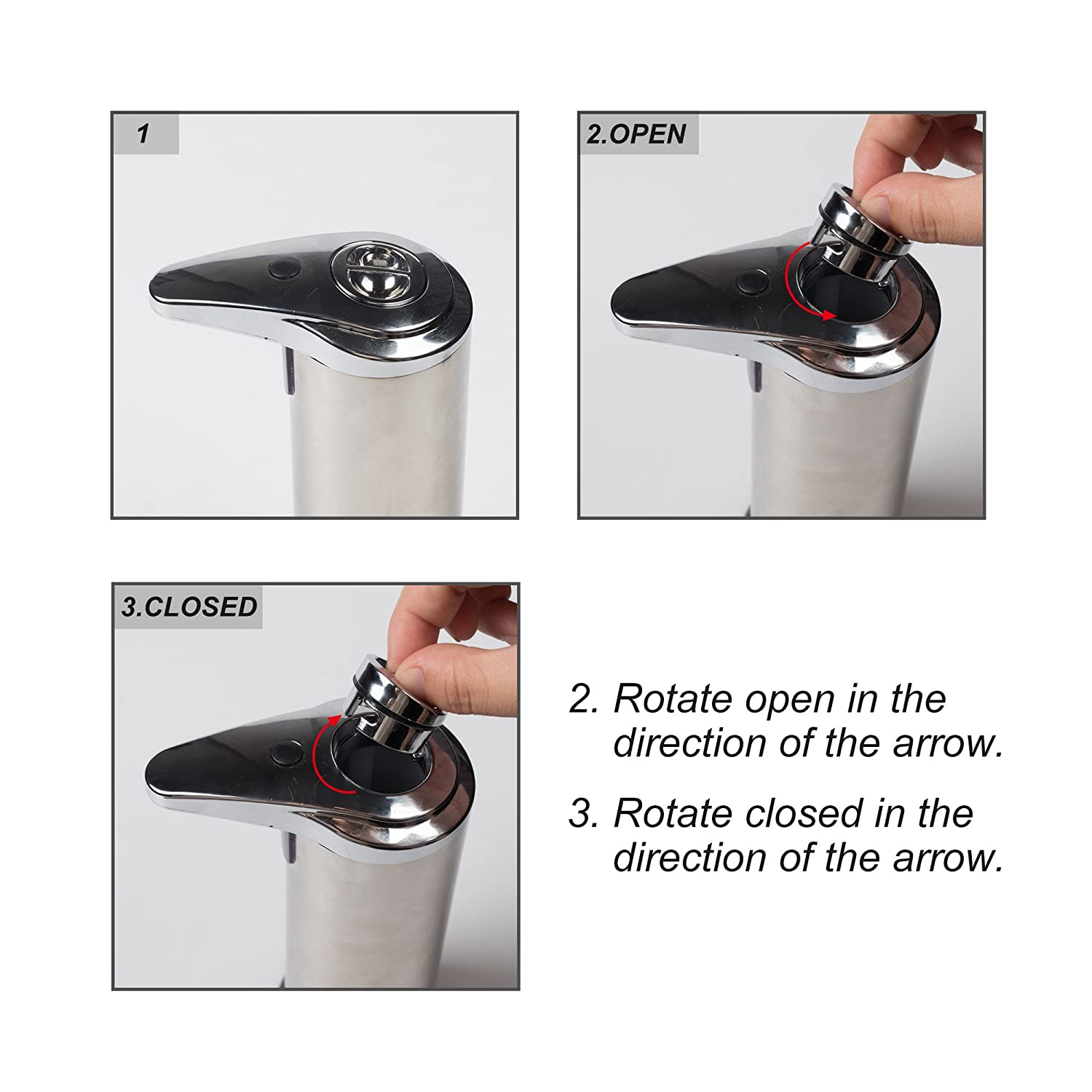 Soap Dispenser Touchless Stainless Steel Automatic Soap