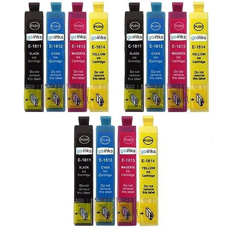 3 Go Inks Conjunto de 4 Cartuchos de Tinta para reemplazar Epson ...