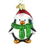 Old World Christmas Playful Penguin Glass Blown Ornament