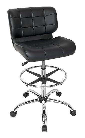 Nice Studio Designs Modern Black Crest Drafting Chair
