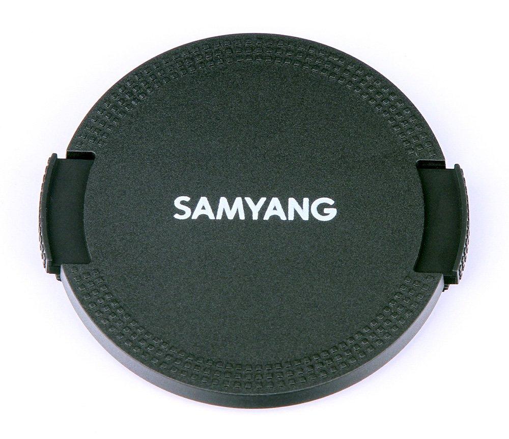 Black Samyang Lens Cap for AF 35 mm F2.8 Lens