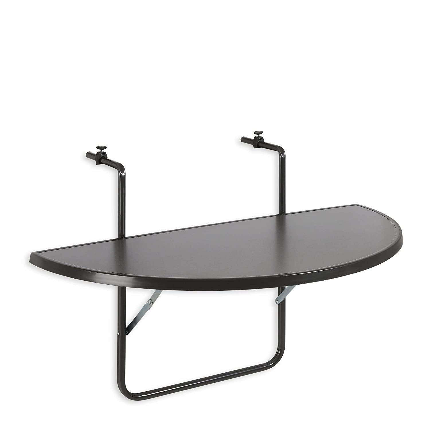 Best Butler 36501550 Table de balcon demi lune À suspendre Anthracite 100 x 50 cm
