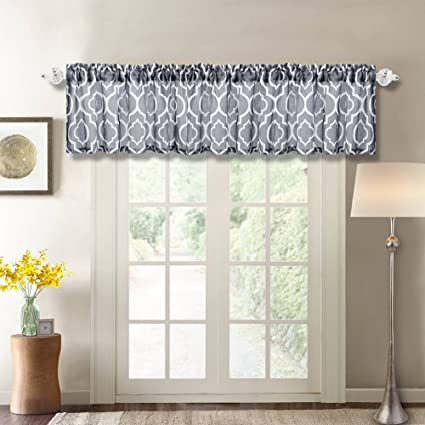 Moroccan Curtain Valance, Lattice Poly Linen Rod Pocket Window Valance For Living  Room ,Matching