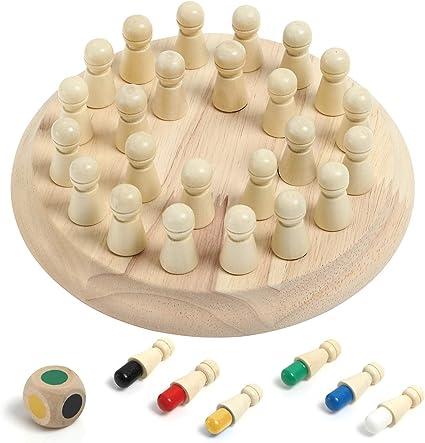 Wooden Memory Montessori Kid Play Kids Memory Game Wood Matching Game Kids Christmas Gift