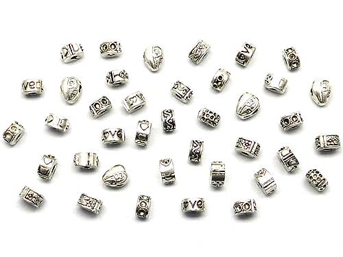 eebd931eb673 5 cuentas de plata Accesorios de Joyería para DIY Pulseras y ...