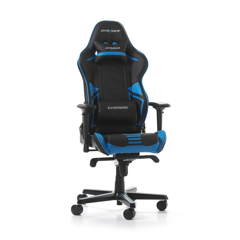DXRacer Racing Pro R131-NB Gaming - Silla de Piel sintética (56 x 65 x 138 cm), Color Azul: Amazon.es: Hogar