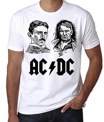 eba8a8e07 Amazon.com: AC/DC Edison vs Tesla T-Shirt, War of Currents Tee ...
