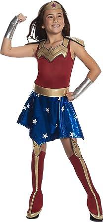Deluxe Wonder Woman Costume DC Super Hero Girls Halloween Fancy Dress