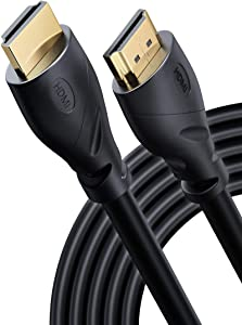 PowerBear 4K HDMI Cable 25 ft | High Speed, Rubber & Gold Connectors, 4K @ 60Hz, Ultra HD, 2K, 1080P, & ARC Compatible for Laptop, Monitor, PS5, PS4, Xbox One, Fire TV, Apple TV & More