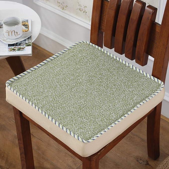 Amazon.com: Cojín cuadrado de espuma gruesa para sillas de ...
