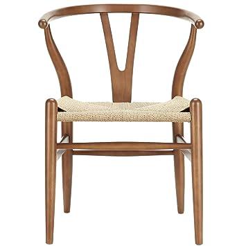 AmazoncomLexMod C24 Wishbone Chair in WalnutChairs