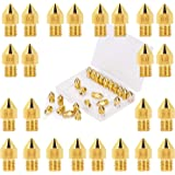 LUTER 24PCS Extruder Nozzles 3D Printer Nozzles for MK8 0.2mm, 0.3mm, 0.4mm, 0.5mm, 0.6mm, 0.8mm, 1.0mm with Free…