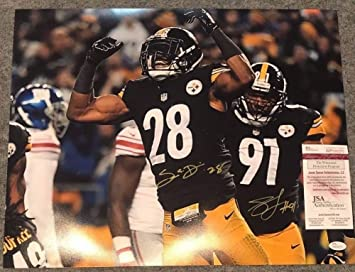 0e2714ce176 Image Unavailable. Image not available for. Color: Sean Davis And Stephon  Tuitt Autographed Signed Pittsburgh Steelers 16x20 Photo - JSA  Authentication