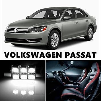 12pcs LED Premium Xenon Blanco luz interior paquete Deal para Volkswagen Passat 2012 - 2017: Amazon.es: Coche y moto